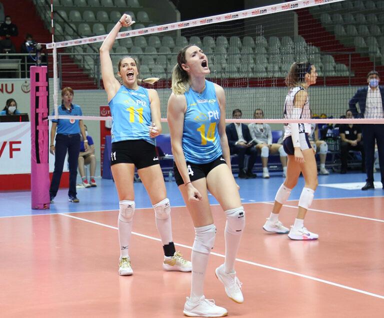 Sistem9 Yeşilyurt'a konuk olan PTT Spor, beş set süren maçın ardından rakibini 3-2 mağlup etti.